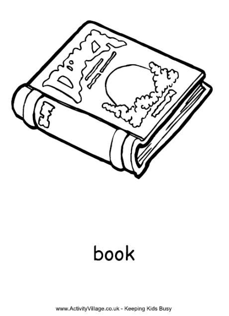 coloring pictures of books book colouring page