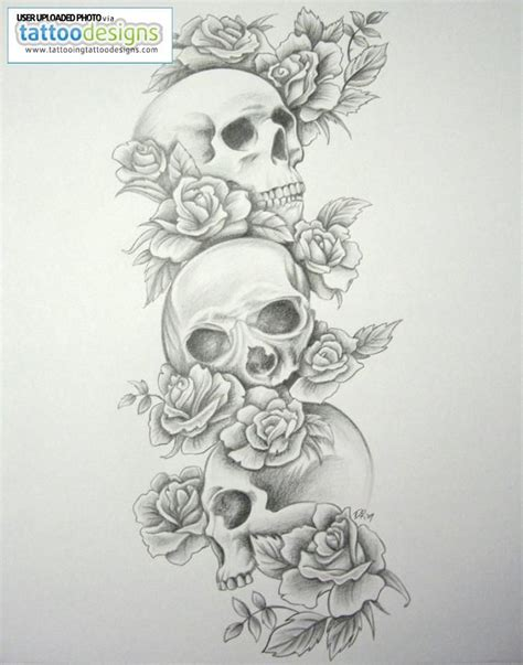 skull and roses sleeve tattoo 25 skull half sleeve tattoos