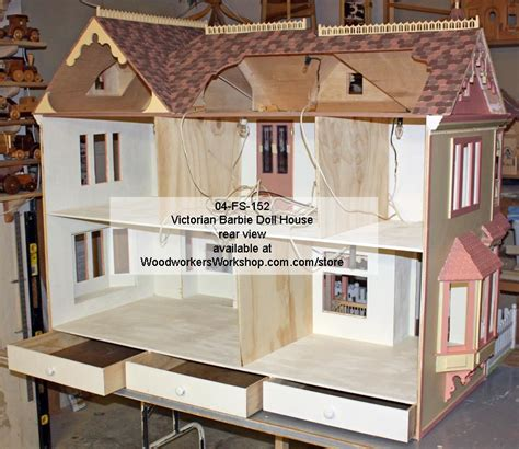 victorian barbie doll house 04 fs 152 victorian barbie doll house woodworking plan woodworkersworkshop