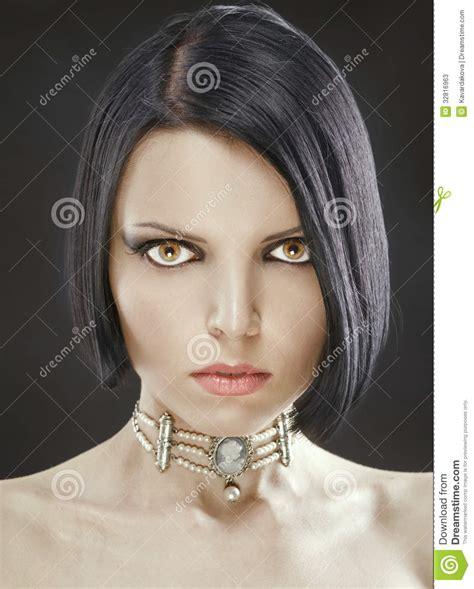 beautiful girl bob beautiful sexy girl with a stylish haircut bob stock