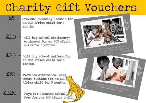 sos africa charity gift vouchers buy online charity