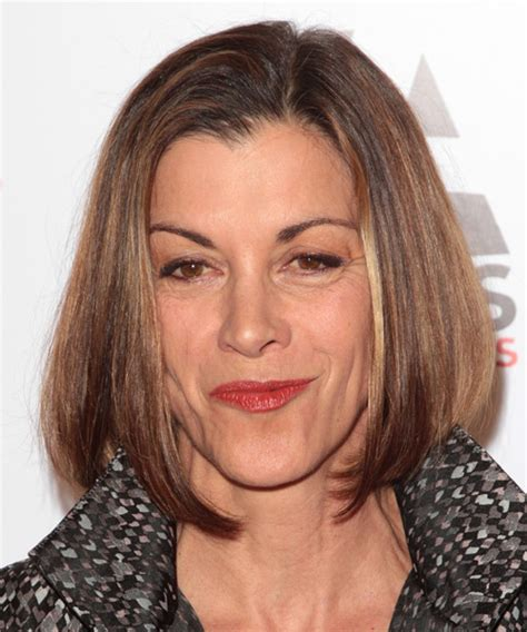 wendy malicks new haircut wendie malick medium straight formal hairstyle medium