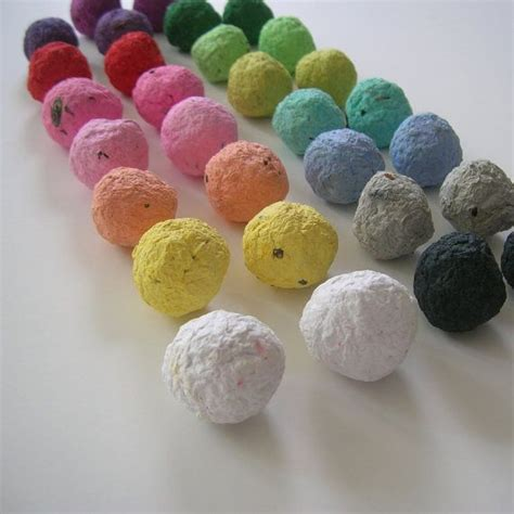 How To Make Flower Seed Paper - seed bombs every color in the rainbow plantable paper