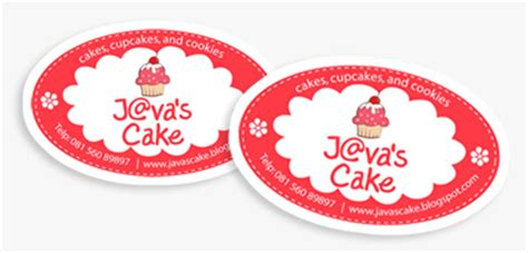 Sticker Rabbit Stiker Tempelan Post It Kue Cake Packing Box Bungkus stiker java s cake template manis