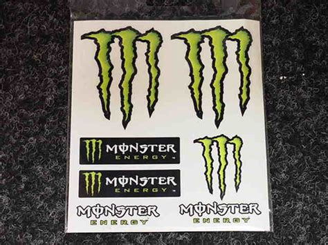 Helm Aufkleber Monster Energy by Sticker Vel Monster Energy 7 Delig