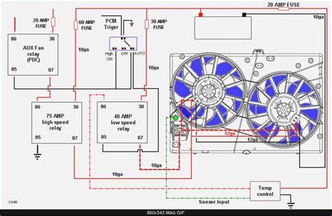 dual radiator fan wiring diagram radiator free printable