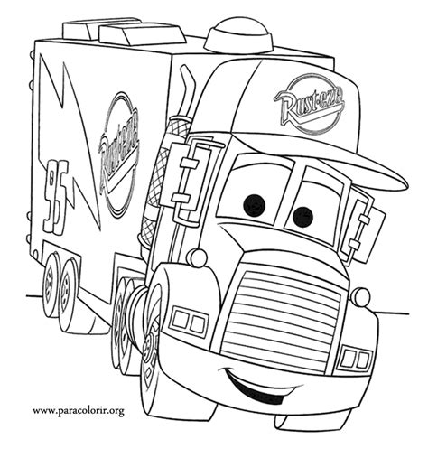 Cars Mack Truck Coloring Page