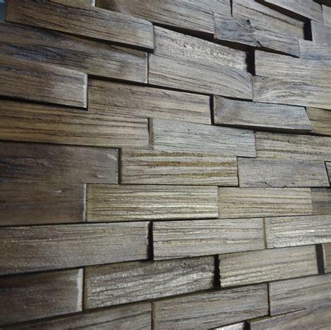 decorative wood panels box mattoni castanho
