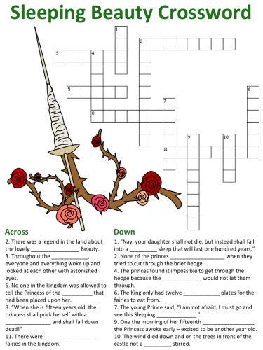 Puzzle Sleeping sleeping crossword puzzles