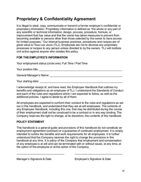 staff confidentiality agreement template doc 460595 staff confidentiality agreement employee