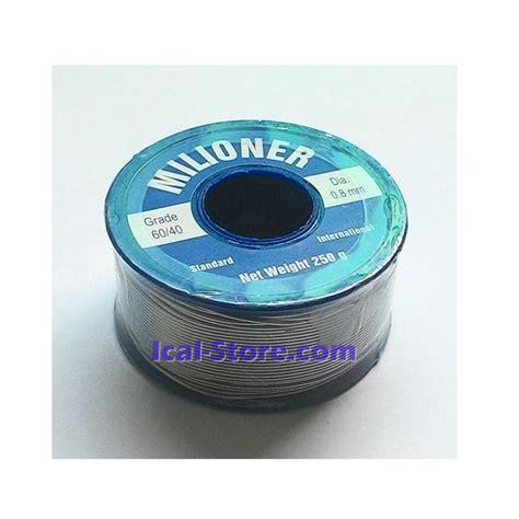 Timah Solder 0 8mm 5m timah solder milioner 250g 1 4 kg grade 60 40 ical