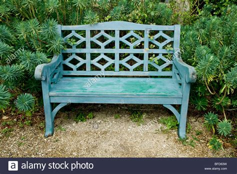 painted wooden garden benches uk wooden painted bench at hanham court gardens cotswolds