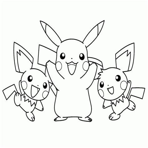 dibujos para pintar kawaii dibujos de pikachu para colorear e imprimir