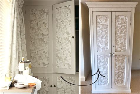 Wallpaper On Wardrobe by A Decorative Touch With Wallpaper