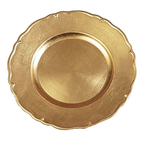 wholesale charger plates of 36 plastic charger plates gold fluted esm