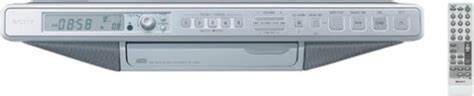 how to sony icf cd553rm cabinet kitchen cd clock