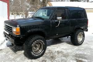 89 bronco ii black 2 9l v6 5 spd 4x4 3 inch lift
