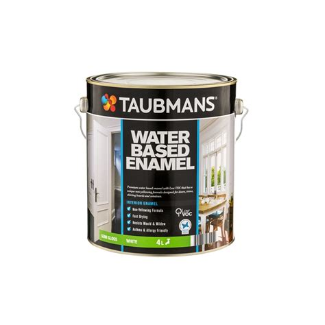 Water Based Interior Paint taubmans 4l water based enamel satin white interior paint i n 1540187 bunnings warehouse