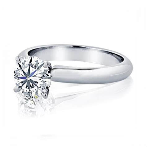 18 karat white gold solitaire engagement ring