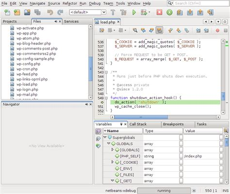 netbeans tutorial debugger netbeans ide 7 0 release candidate 2 for php