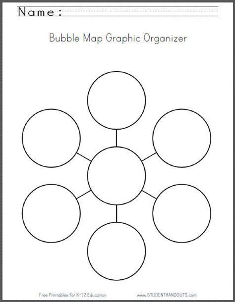 printable graphic organizers bubble map graphic organizer worksheet free to print