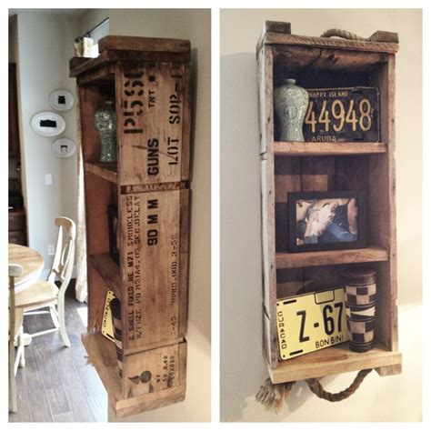 Ammo Shelf by Repurposed Ammo Box Shelf I This House Makes Me