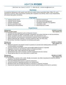 Work At Home Resume Sles by Unforgettable Salesperson Resume Exles To Stand Out Myperfectresume