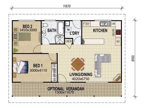 granny flat floor plans 2 bedrooms granny flat plans on pinterest granny flat 3d house