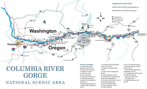 river gorge map columbia river gorge travel council
