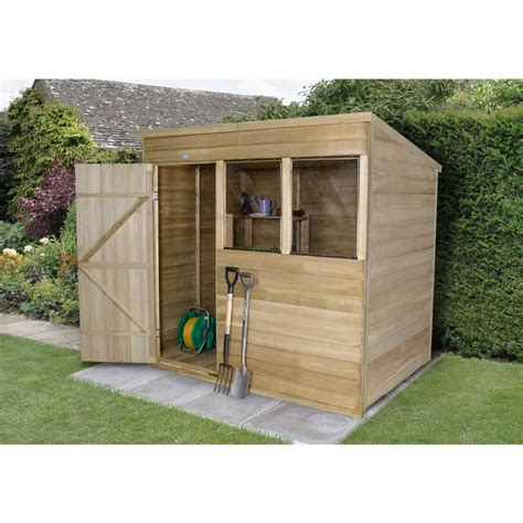 Wilkinson Sheds by Forest Garden Overlap Pent Garden Shed 7 X 5 At Wilko