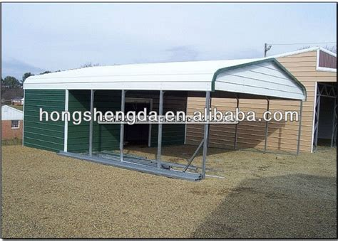 Cheap Portable Carports China Cheap Steel Carport With Small Garage View Portable