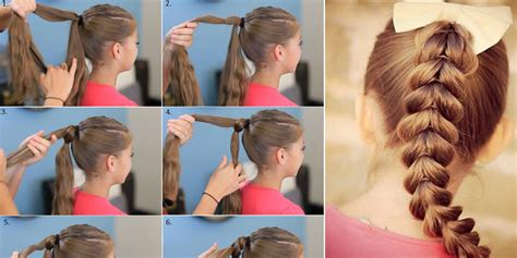 Hairstyles For School Step By Step With Pictures by School Braid Hair Style Tutorial Step By Step B