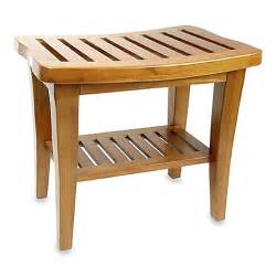 teak wood shower bench www bedbathandbeyond