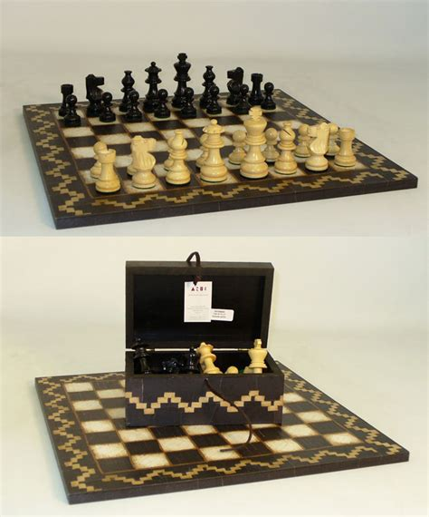 white chess set lardy artisan white and black chess set with storage
