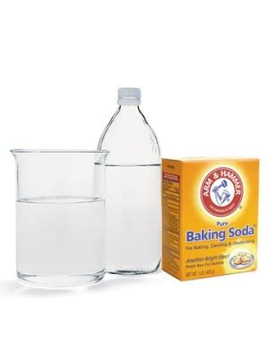 baking soda and vinegar clogged pour 1 2 cup baking soda and then 1 2 cup of vinegar