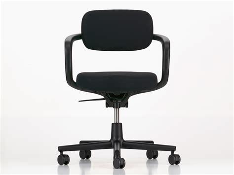 black swivel chair buy the vitra allstar office swivel chair deep black at nest co uk