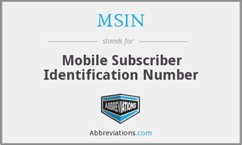 mobile subscriber identification number msin mobile subscriber identification number