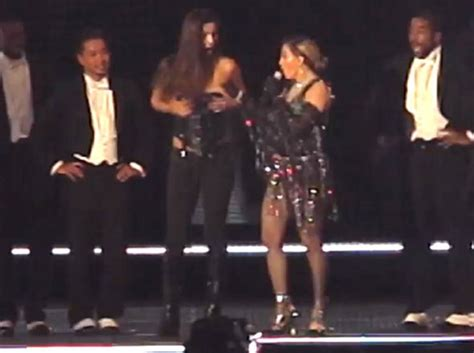 Pulls A Madonna by Madonna Exposes Fan S Breast After Inviting On Stage