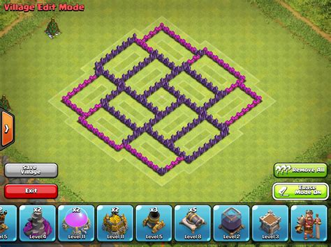 coc layout anti dragon th7 anti dragon coc th7 base