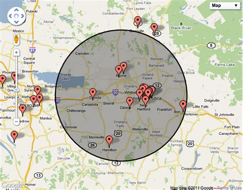 map radius javascript maps api v3 set zoom level to show a given radius stack overflow