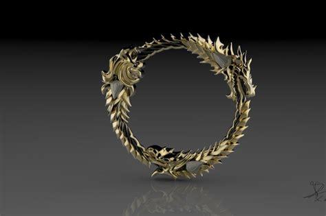 the elder scrolls ring charm emblem print 3d