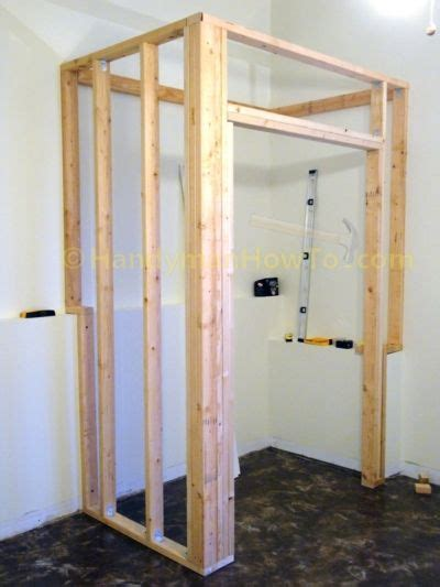 basement closet framing  wall studs build  closet