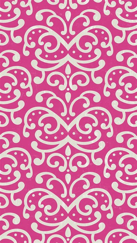 pink pattern girly iphone 5 wallpaper pink damask pattern mobile