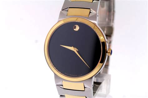 s movado 0606064 temo two tone stainless steel black