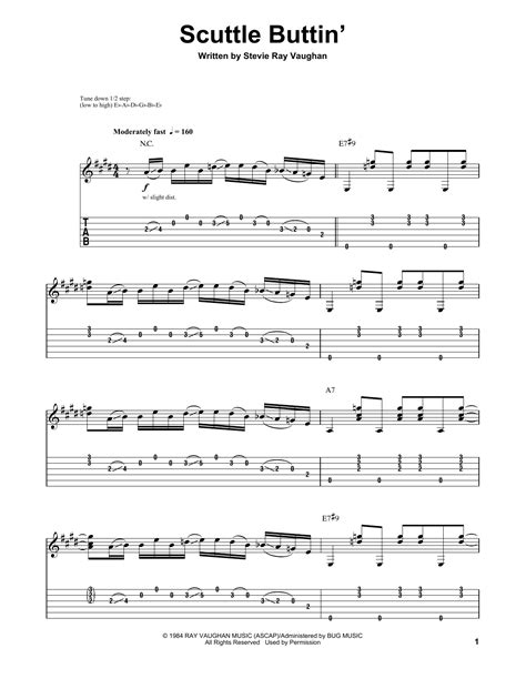 scuttle buttin guitar tab  stevie ray vaughan guitar tab
