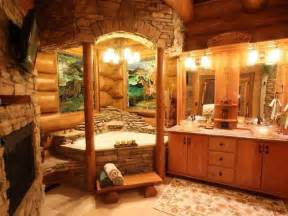 log cabin bathroom home