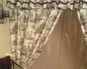shower curtains with tie backs home ideas designs