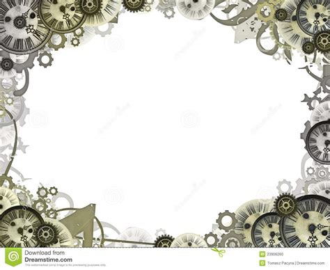 Clocks Vintage Background Frame Border Stock Illustration ...