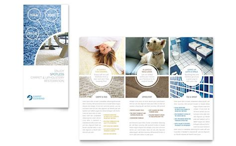 Carpet Cleaners Tri Fold Brochure Template Design Carpet Cleaning Postcards Templates