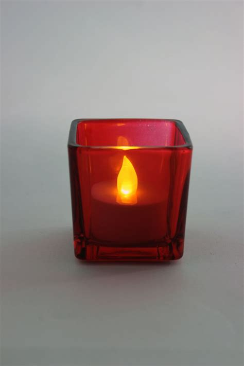 Coloured Candle Holders Square Glass Tealight Holders Coloured Glass Candle